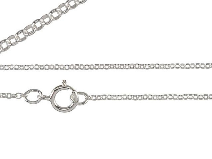 Sterling Silver 18-Inch Fine Cable Chain Necklace with Clasp