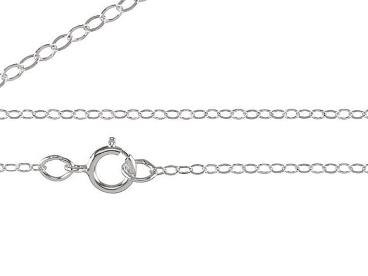 Sterling Silver 18-Inch Flat Cable Chain Necklace