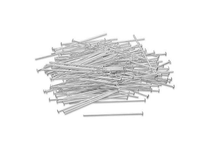 Sterling Silver 1-Inch Head Pin, 22 Gauge Bulk Pack (200 Pcs)