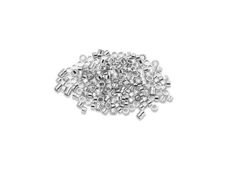 Sterling Silver 1 x 2mm Crimp Tube Bulk Pack (250 Pcs)