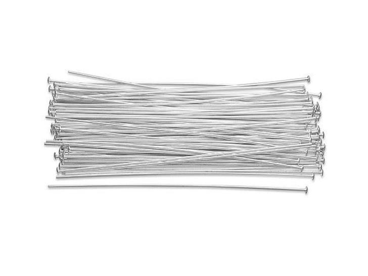 Sterling Silver 2 1/2-Inch Head Pin, 22 Gauge Bulk Pack (100 Pcs)