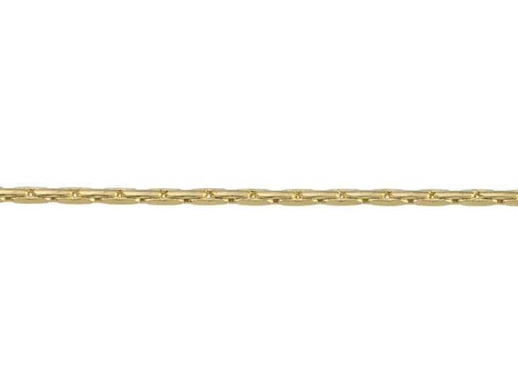 1mm Gold-Plated Brass Beading Chain By the Foot