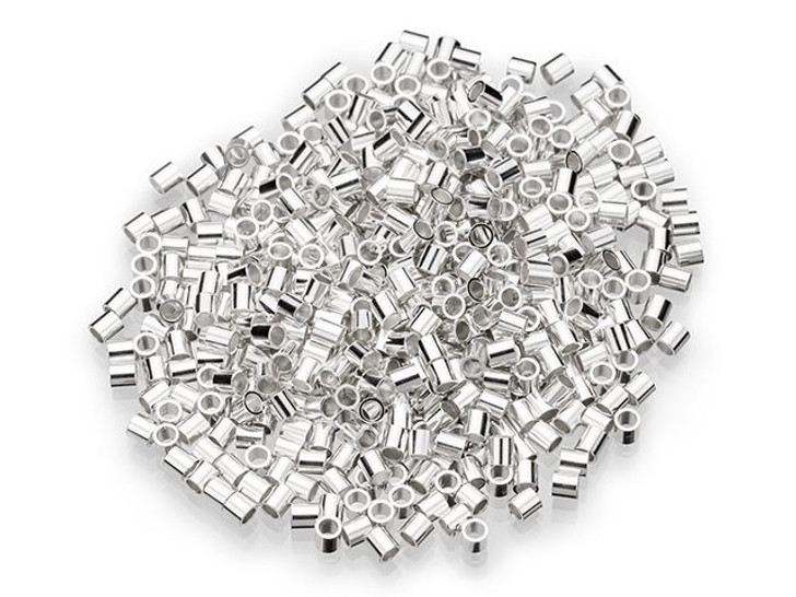 Sterling Silver 2 x 2mm Crimp Tube (500 Pieces)