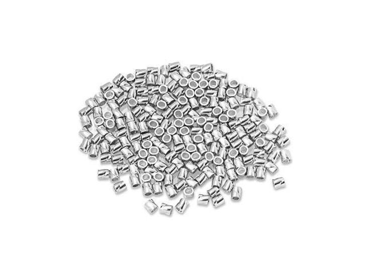 Sterling Silver 2 x 2mm Twisted Crimp Tube Bulk Pack (200 Pcs)