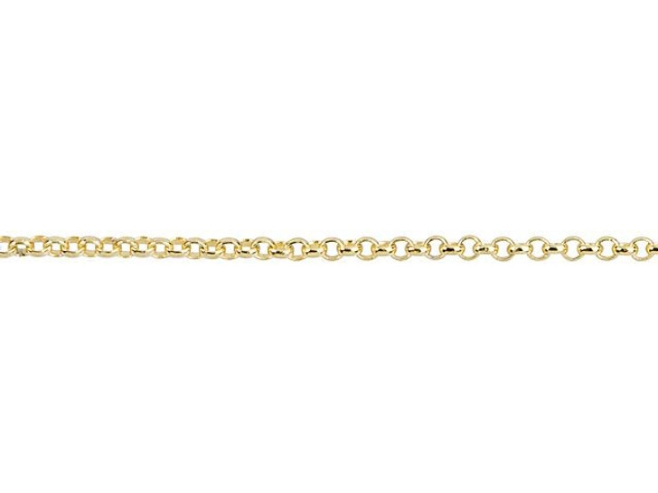 1mm Gold-Plated Brass Delicate Rolo Chain By the Foot