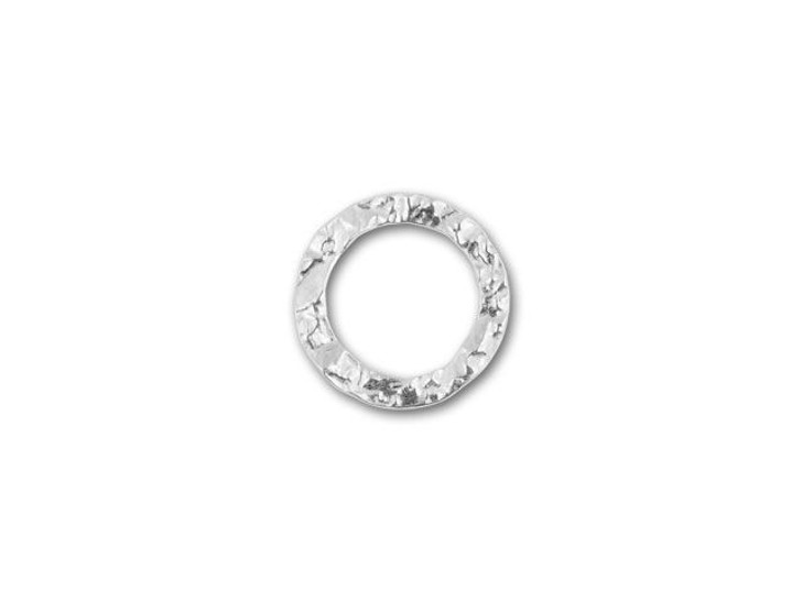 Sterling Silver 20mm Hammered Round Link
