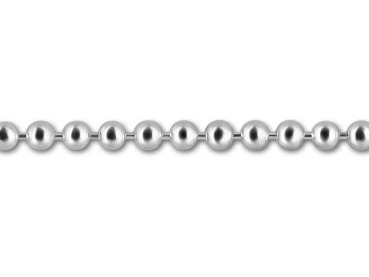 Sterling Silver 2mm Ball Chain by the Foot