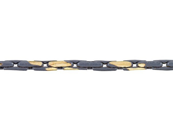 1mm Gray and Gold Two-Tone Beading Chain by the Foot