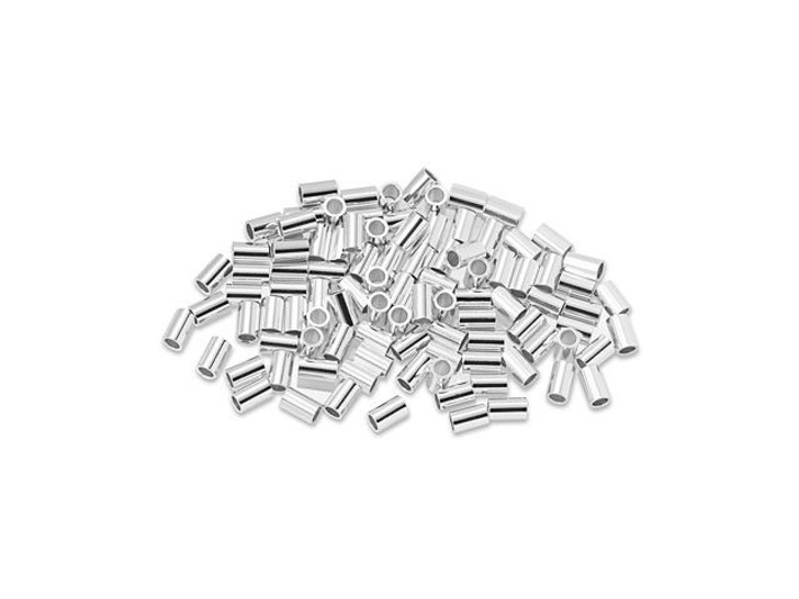 Sterling Silver 3 x 2mm Crimp Tube Bulk Pack (100 Pcs)