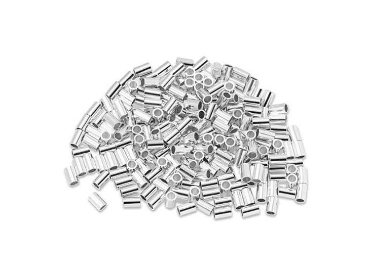 Sterling Silver 3 x 2mm Crimp Tube Bulk Pack (200 Pcs)