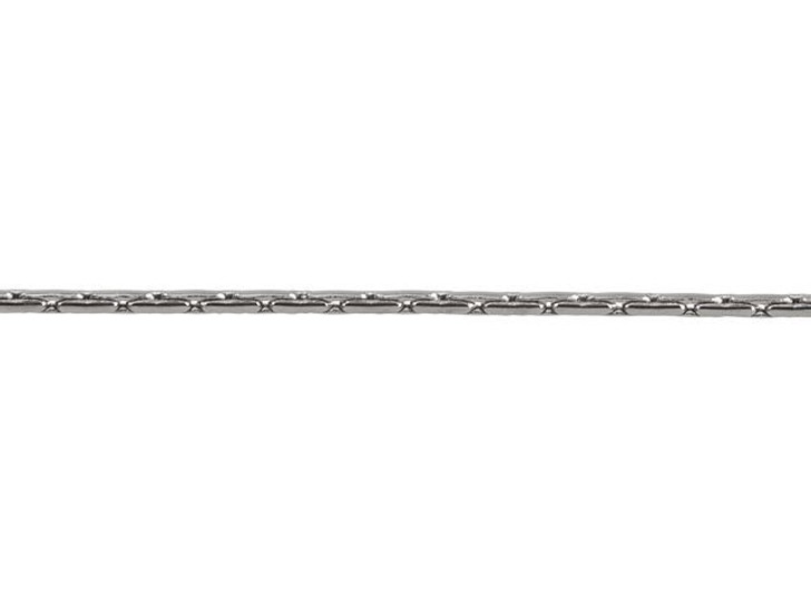 1mm Gunmetal-Plated Brass Beading Chain By the Foot