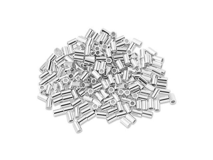 Sterling Silver 3x2mm Crimp Tube - Heavy Bulk Pack (200 Pcs)