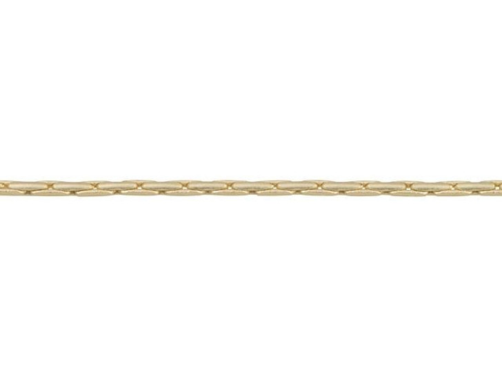 1mm Satin Hamilton Gold-Plated Brass Beading Chain By the Foot