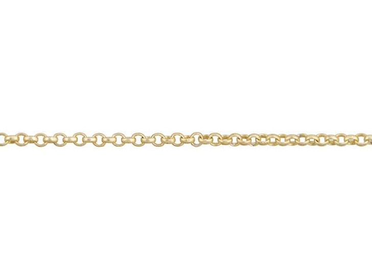 1mm Satin Hamilton Gold-Plated Brass Delicate Rolo Chain By the Foot
