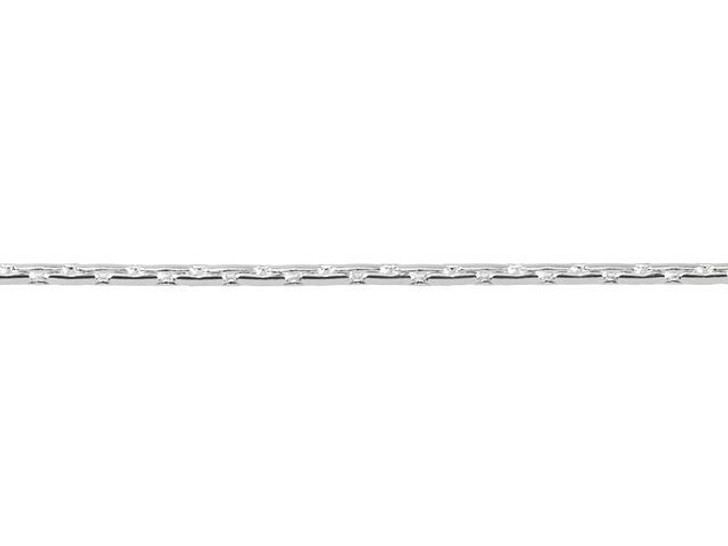 1mm Silver-Plated Brass Beading Chain By the Foot
