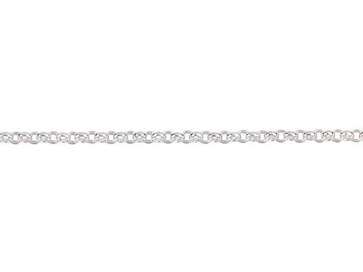 1mm Silver-Plated Brass Delicate Rolo Chain By the Foot