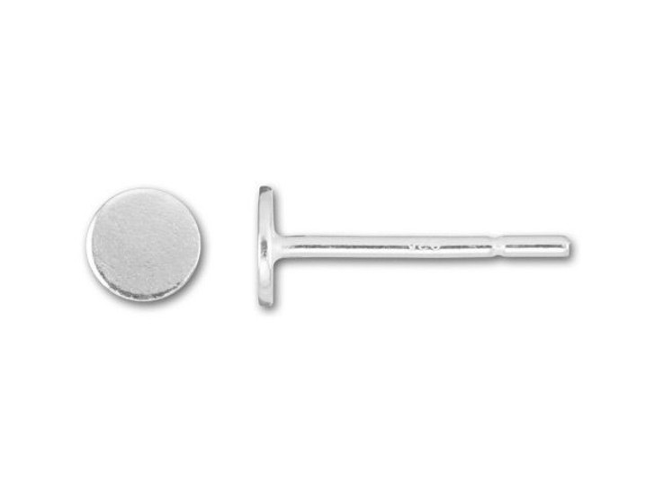 Sterling Silver 4mm Glue-On Earring Post (Pair)