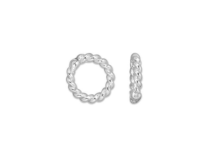 Sterling Silver 4mm Twisted 20 Gauge Closed Jump Ring