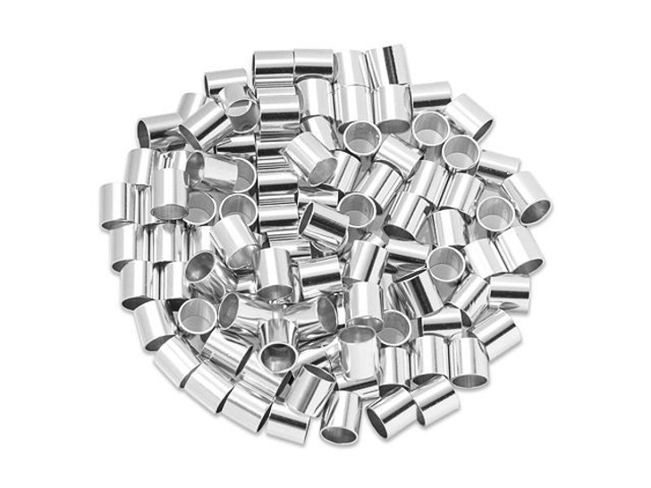 Sterling Silver 4x4mm Crimp Tube Bulk Pack (100 Pcs)