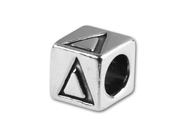 Sterling Silver 5.6mm Greek Letter Bead - Delta