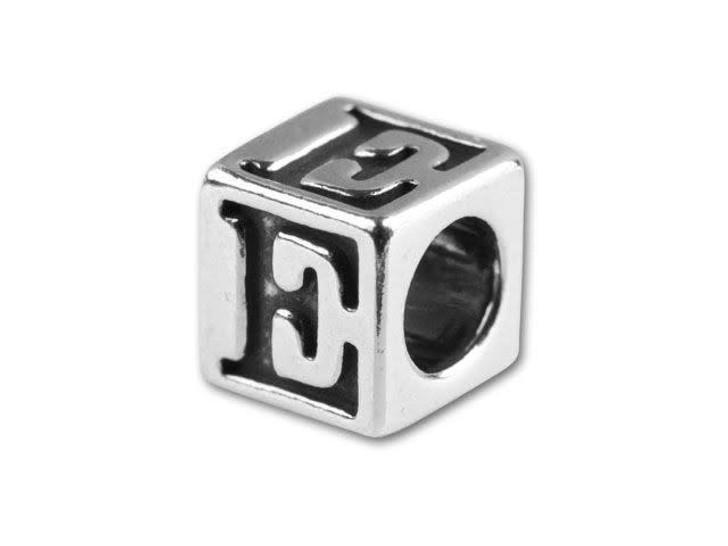 Sterling Silver 5.6mm Greek Letter Bead - Epsilon
