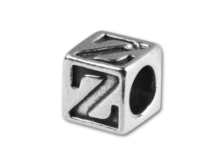 Sterling Silver 5.6mm Greek Letter Bead - Zeta