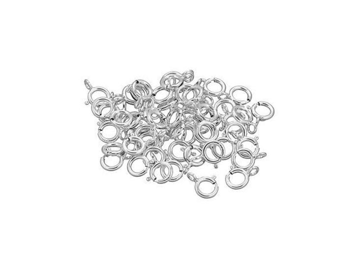 Sterling Silver 5mm Spring Ring (Closed Loop) Bulk Pack (50 Pcs)