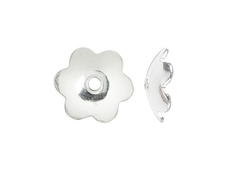 Sterling Silver 6mm Flower Bead Cap