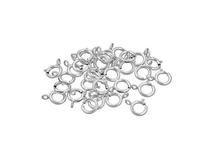 Sterling Silver 6mm Spring Ring (Closed Loop Pcs) Bulk Pack (30 Pcs)
