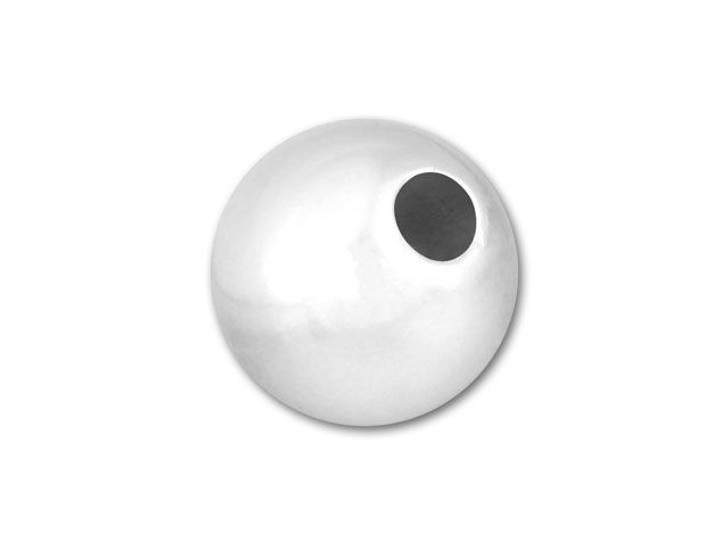 Sterling Silver 7mm Seamless Round Small Hole Bead