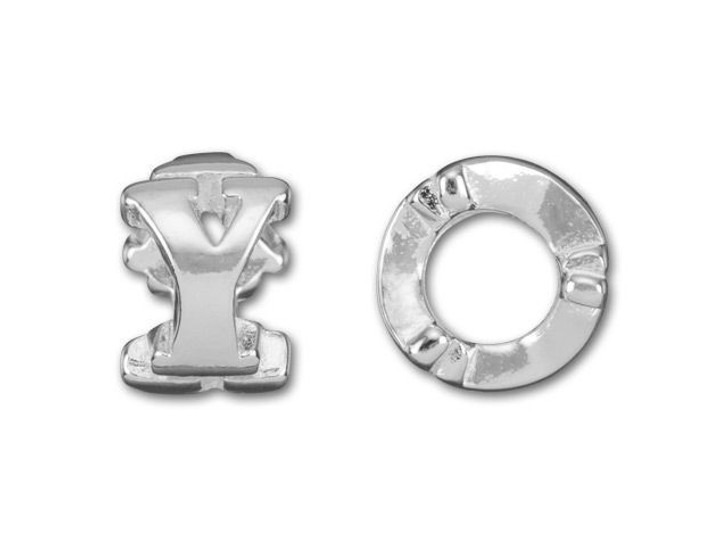 Sterling Silver 8mm Cut Out Y Bead (4.7mm Hole)