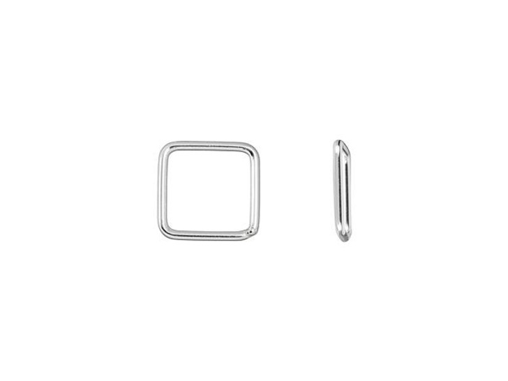 Sterling Silver 8mm Square Closed Jump Ring 20 gauge