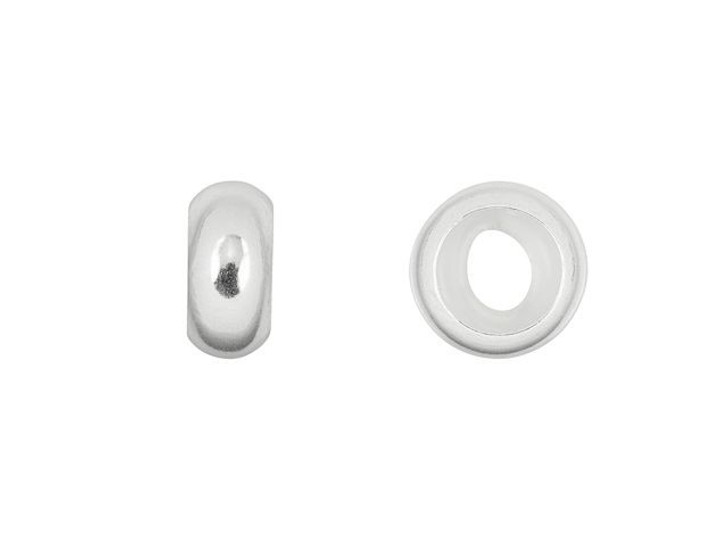 Sterling Silver 8mm Stopper Bead with 4mm Hole