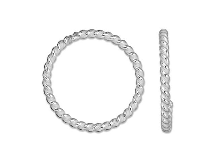 Sterling Silver 8mm Twisted 20 Gauge Closed Jump Ring