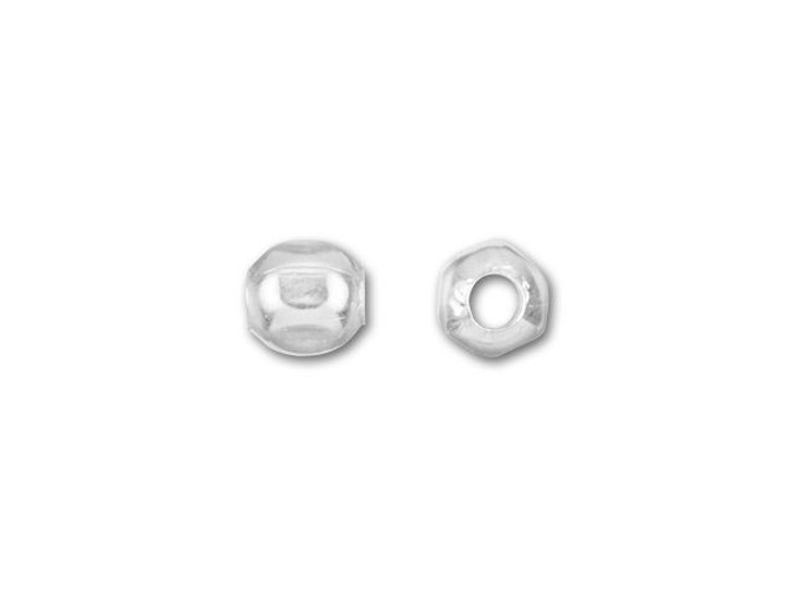 2.1mm Faceted Spacer Bead (Sterling Silver)