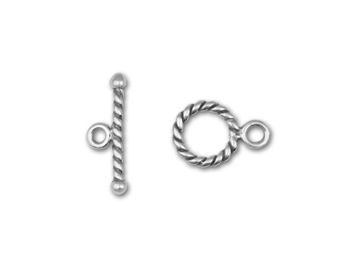 Sterling Silver 9mm Wrapped Toggle Clasp