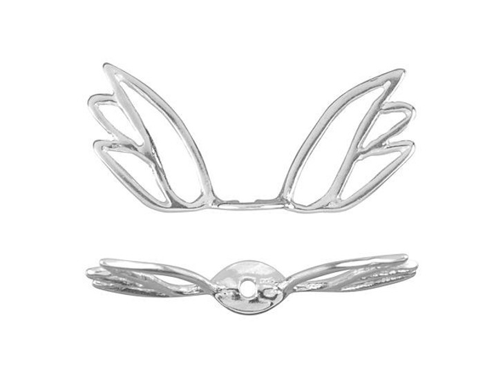 Sterling Silver Angel Wing Bead