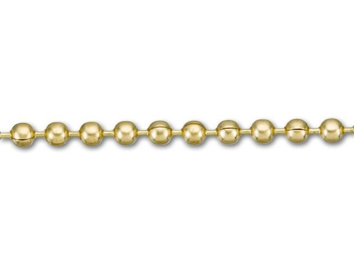 2.3mm Gilding Metal Ball Chain by the Foot