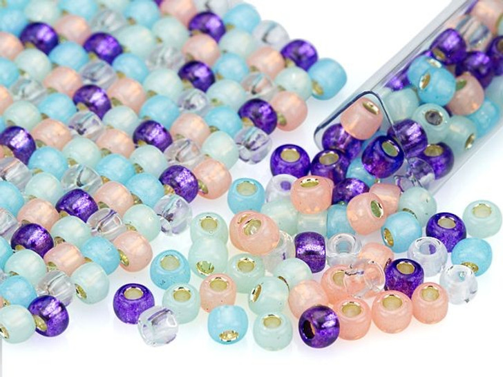 Artbeads Carnival Candy Designer Blend, 6/0 TOHO Round Seed Beads