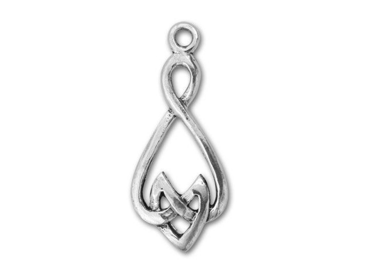 Sterling Silver Celtic Drop Charm