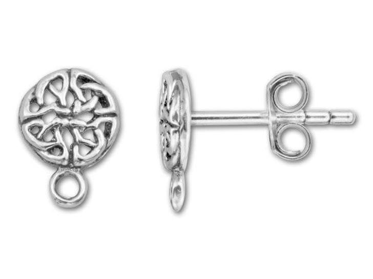Sterling Silver Celtic Post Earring (Pair)
