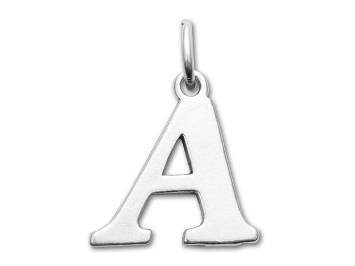 Sterling Silver Charms - Letter A