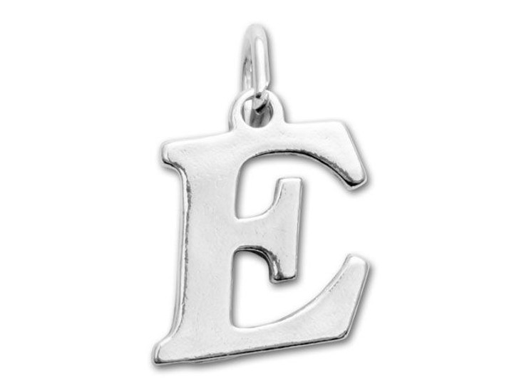 Sterling Silver Charms - Letter E