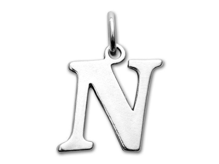 Sterling Silver Charms - Letter N