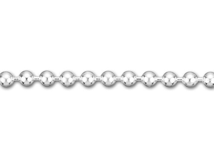 2.3mm Silver-Plated Ball Chain by the Foot