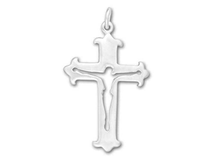 Sterling Silver Cutout Crucifix Charm