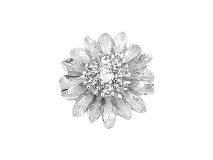 Sterling Silver Daisy Enhancer with Swarovski Crystals