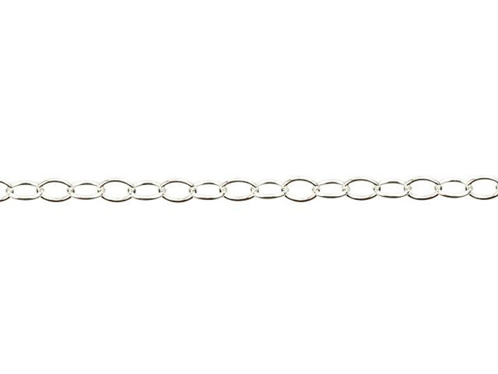 Sterling Silver Delicate Cable Chain by the Foot
