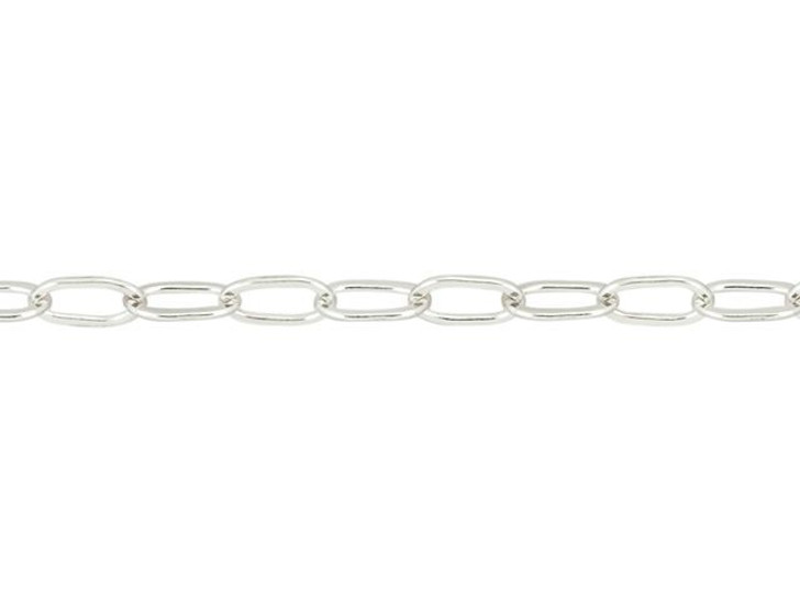 Sterling Silver Drawn Flat Cable Chain by the Foot
