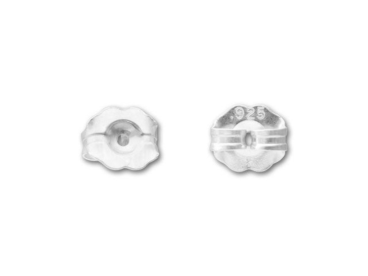 Sterling Silver Earring Back - Extra Heavy